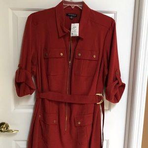 Sharagano dark burnt red dress w/ belt size 22W